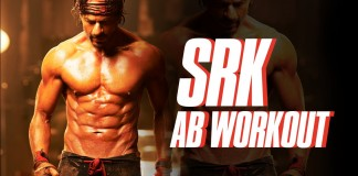 SRK abs workout video for Happy New Year