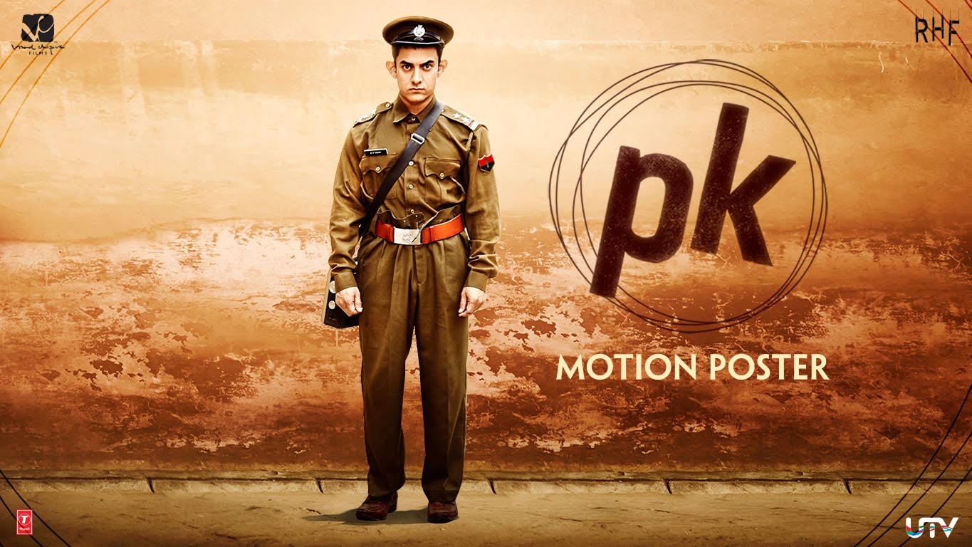 PK Motion Poster 3 : Aamir Khan surprised us once again in new poster