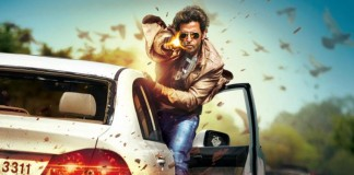 Hrithik Roshan in an action sequence scene from Bang Bang