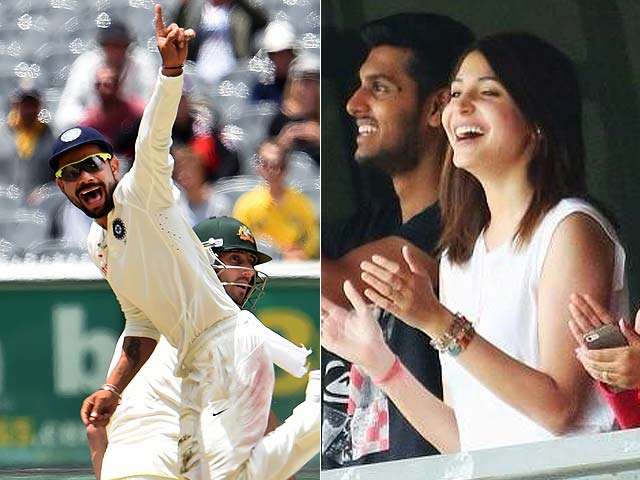 10 Reasons Why Anushka Sharma Is A Perfect Girlfriend - Anushka Sharma cheering for Virat