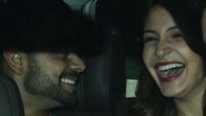 Anushka and Virat Laughing