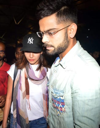 Anushka and Virat at Airport