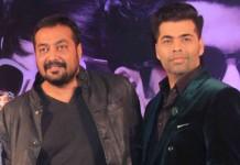 Karan Johar With Anurag Kashyap at Bombay Velvet Trailer Launch
