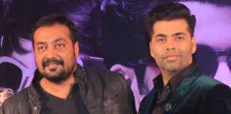 Karan Johar With Anurag Kashyap at Bombay Velvet Trailer Launch
