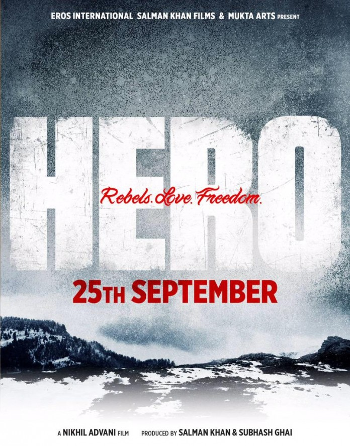 Hero First Look Revealed starring Sooraj Pancholi and Athiya Shetty