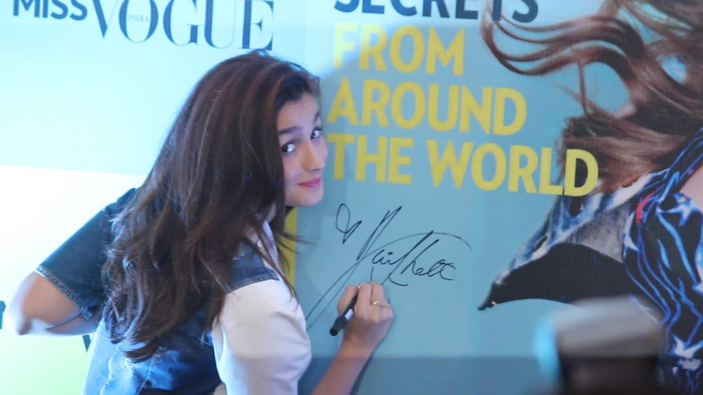 Alia Bhatt during Miss Vogue Launch in India