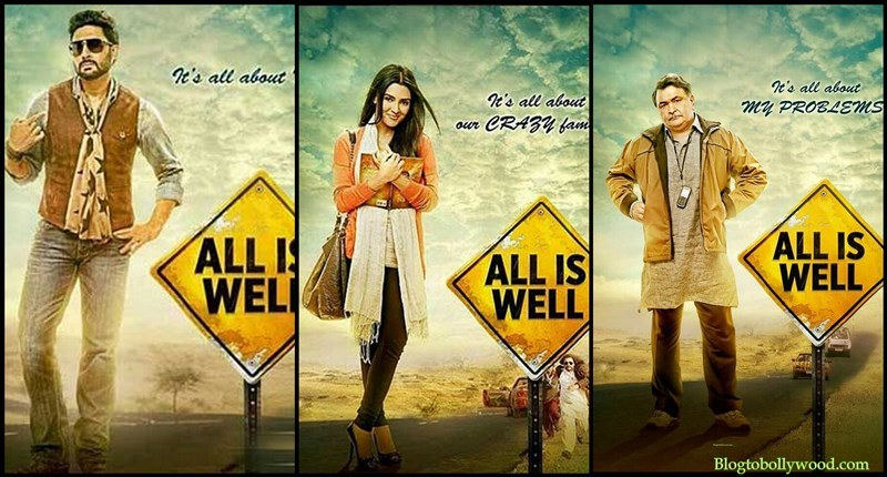 All Is Well First Look Posters feat. Abhishek, Asin and Rishi Kapoor