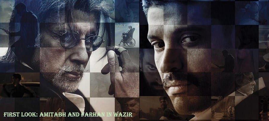 First Look Posters : Amitabh and Farhan in Wazir