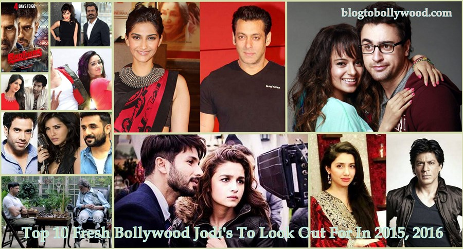Top 10 Fresh Bollywood Jodi's To Look Out For In 2015, 2016