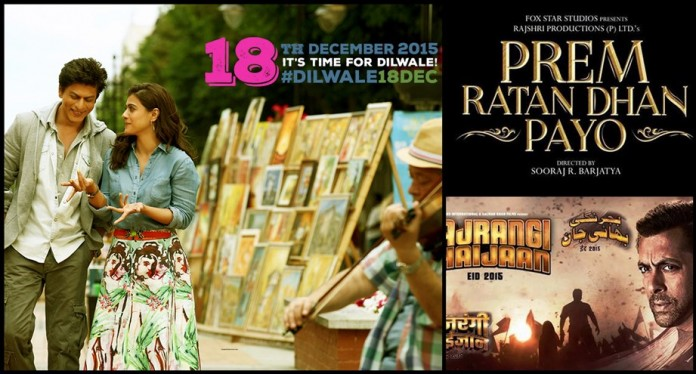 Bajrangi Bhaijaan vs Dilwale vs Prem Ratan Dhan Payo Box Office