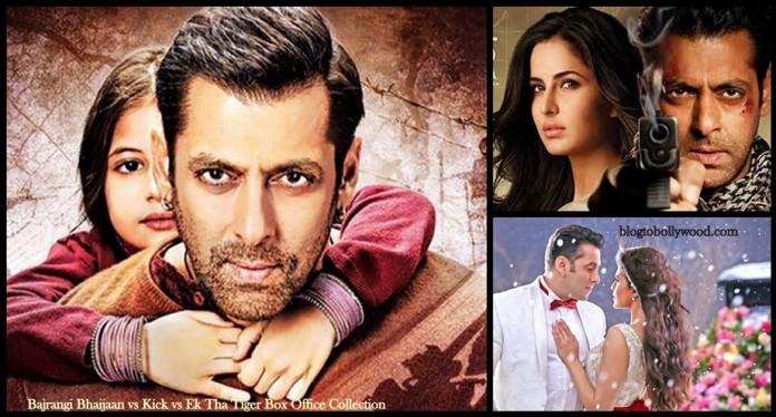 Bajrangi Bhaijaan vs Ek Tha Tiger vs Kick Box Office Collection