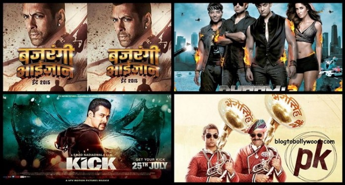 Bajrangi Bhaijaan vs PK vs Dhoom 3 vs Kick First Week Collection