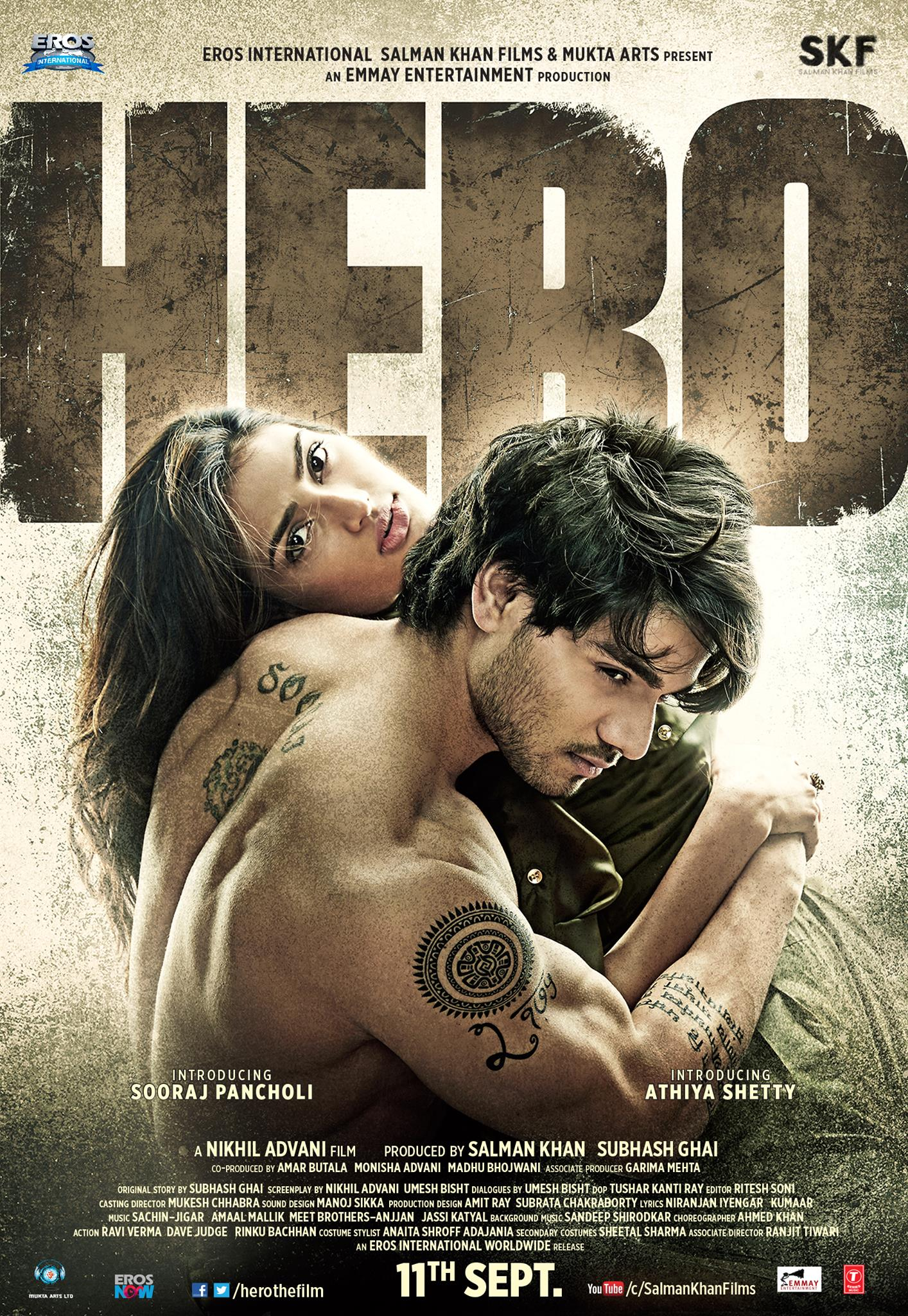 Hero First Look Poster feat. Sooraj Pancholi and Athiya Shetty