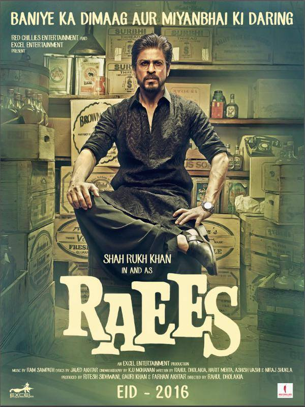 Raees first look poster - SRK