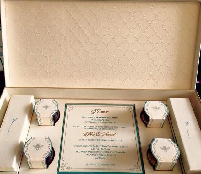 Shahid Kapoor's Wedding Card