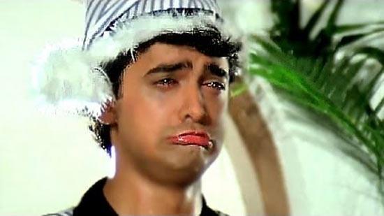 Aamir Khan Crying in Andaz Apna Apna