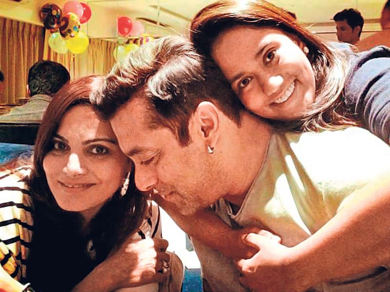 Bollywood Brothers and Sisters - Salman with Aprita and Alvira