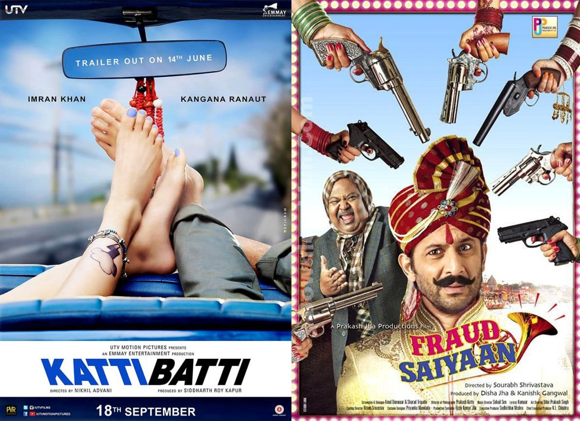 10 Biggest Bollywood Clashes in 2015-2016-Katti Batti v/s Fraud Saiyaan