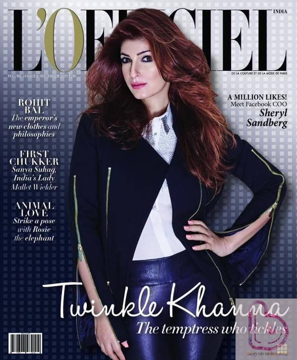 Twinkle Khanna dazzles L'Officiel's September issue!