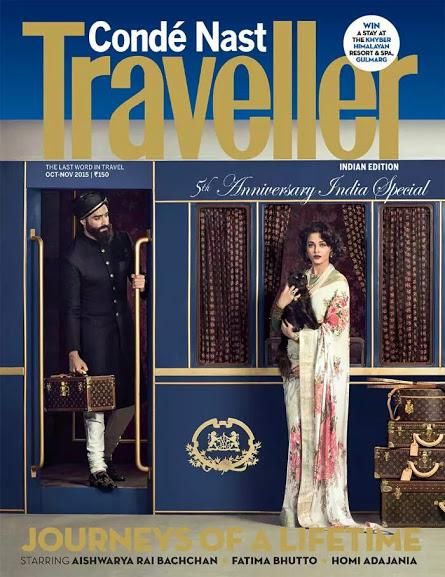 Aishwarya looks so royal in the cover of Condé Nast Traveller India!