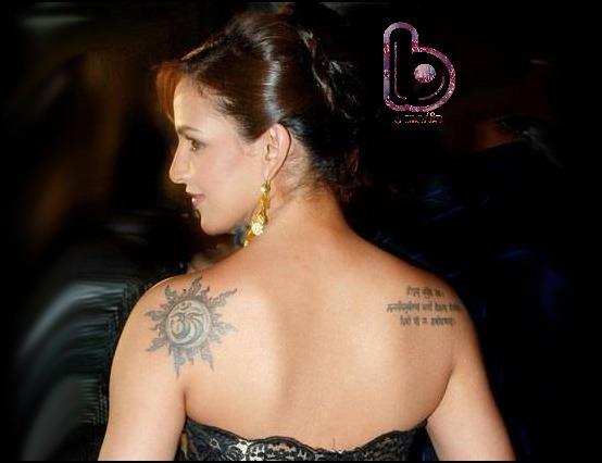 Bollywood Celebs and their Awesome Tattoos!- Esha