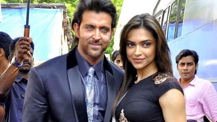 Hrithik Roshan and Deepika Padukone