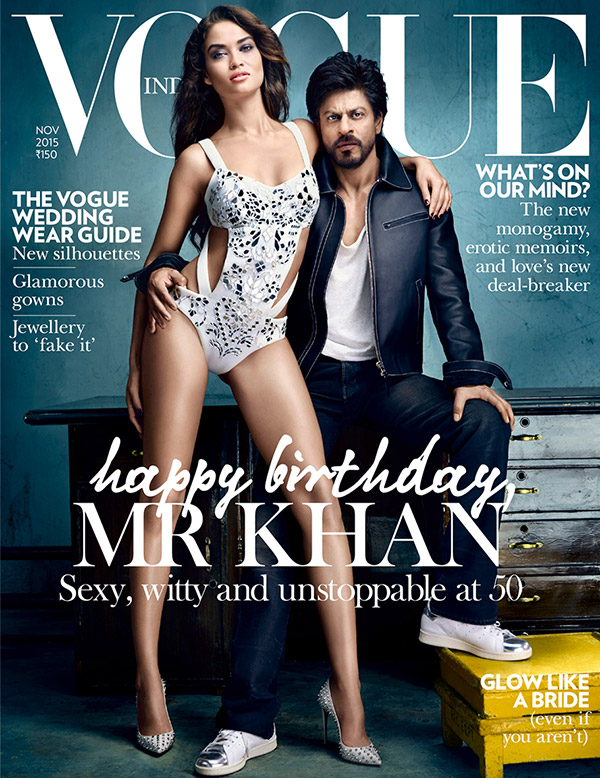 Shahrukh Khan on cover of vogue India