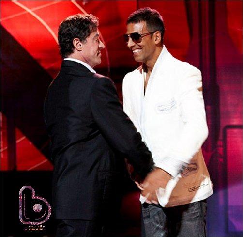 Sylvester Stallone and Akshay Kumar in Kambakht Ishq