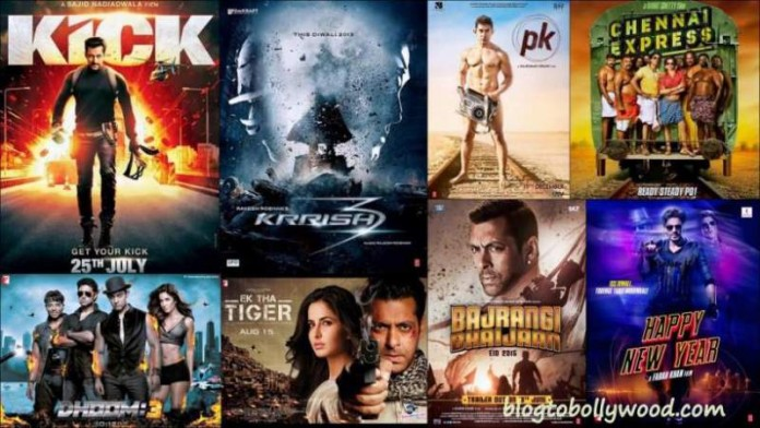 1st Sunday collection of Bollywood movies