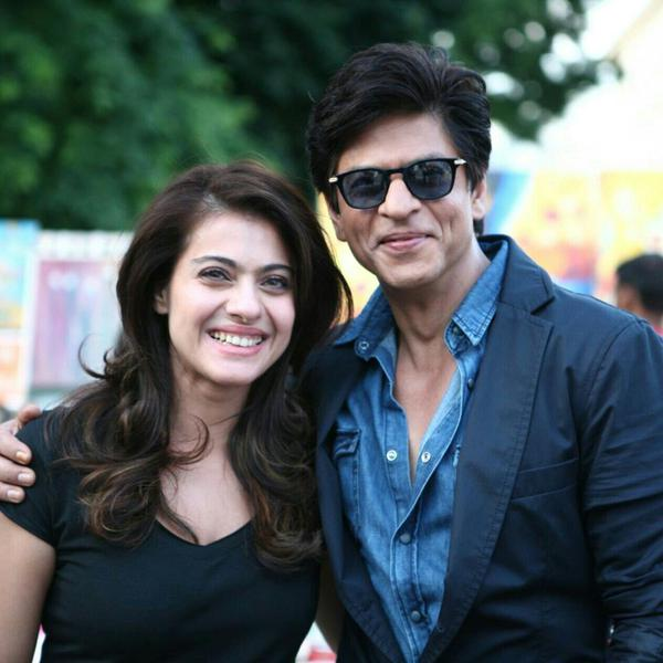 This is what happened behind the scenes on the sets of 'Dilwale'!-SRk kajol