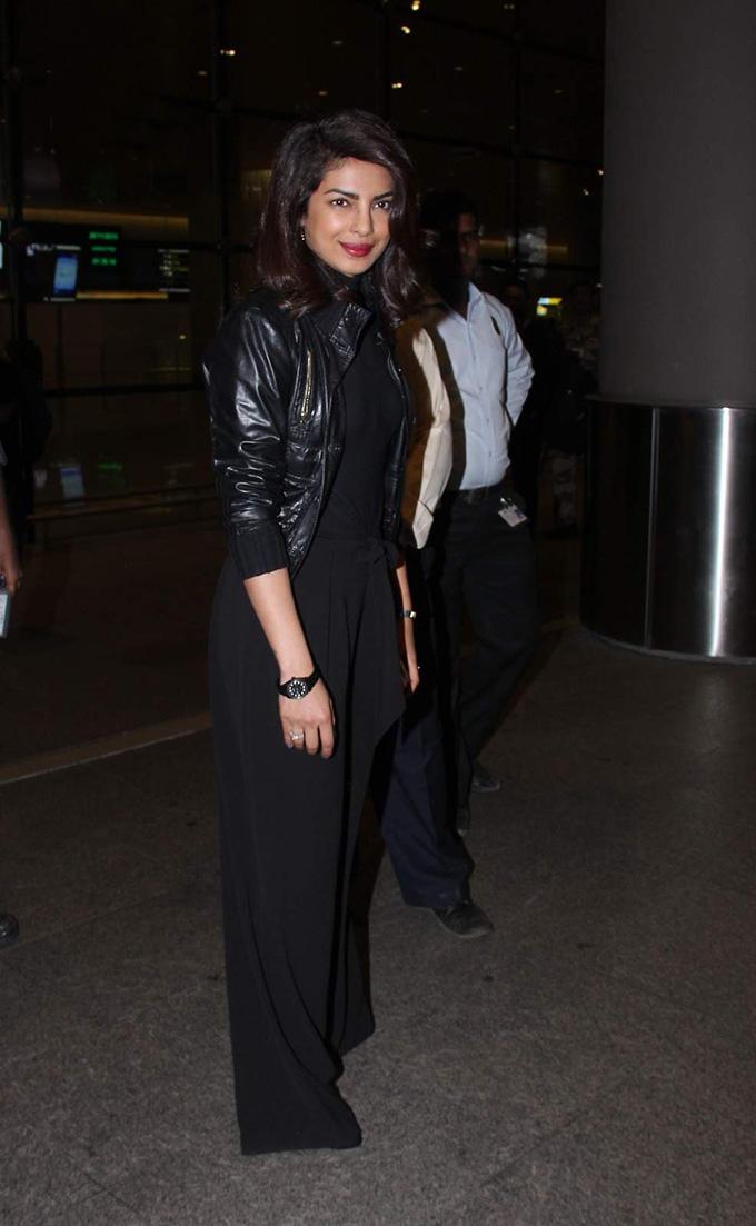 Priyanka Chopra is back in India for Bajirao Mastani promotions!