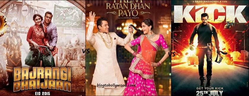Prem Ratan Dhan Payo Vs Bajrangi Bhaijaan Vs Kick Box Office