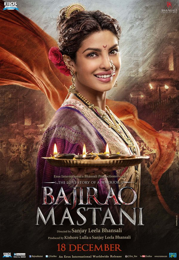 The first poster of Priyanka Chopra as Kashibai