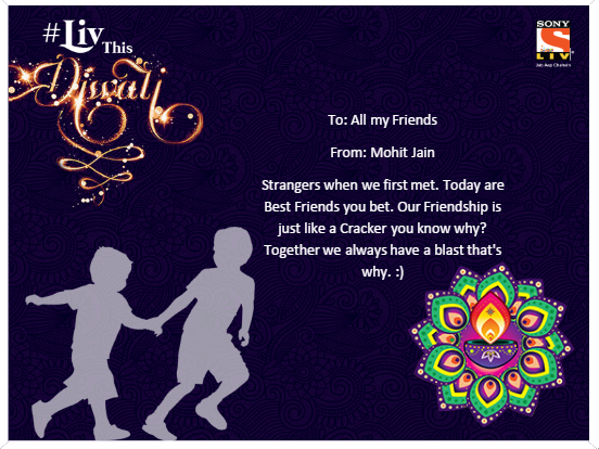 Sample Greeting from SonyLiv