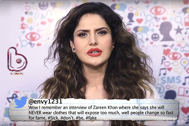 Watch Zarine Khan get back at her criticizers in style!