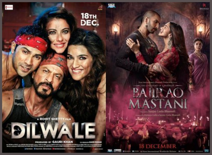 War between Bajirao Mastani and Dilwale just kicked off with the trailers