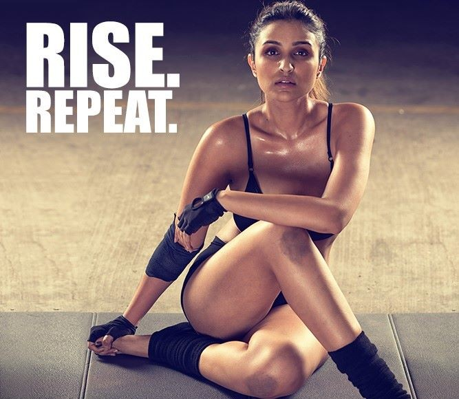 Parineeti Chopra - Built That Way PhotoShoot Inspires to Prespire Rise Repeat