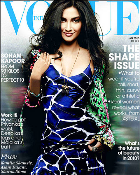 Sonam Kapoor on cover | Vogue India 2010