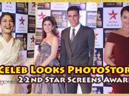 Check out Bollywood celebrity dresses, attire and looks for 22nd Star Screen Awards!