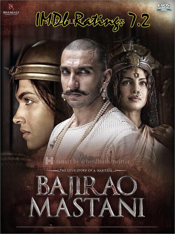 Top 10 IMDb Rated Movies of Deepika Padukone - Bajirao Mastani