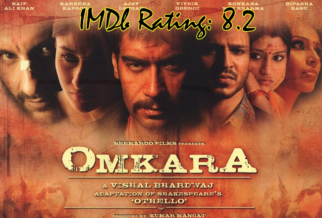 Top 10 IMDb Rated Movies of Ajay Devgn - Omkara