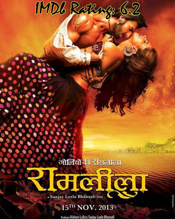 Top 10 IMDb Rated Movies of Deepika Padukone - Ram-Leela