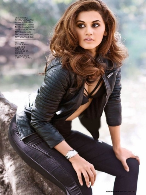 Taapsee on the cover of Maxim India Magazine - 3