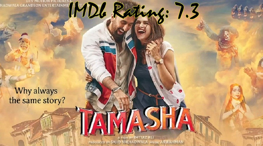 Top 10 IMDb Rated Movies of Deepika Padukone - Tamasha