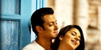 Katrina Kaif with Salman Khan on the sets of Sultan