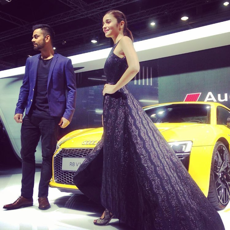 Black Beauties Katrina Kaif and Alia Bhatt turn up the heat at the Auto Expo 2016- Alia 2