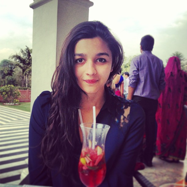 Alia at Jai mahal in Jaipur for post birthday treat with her sister