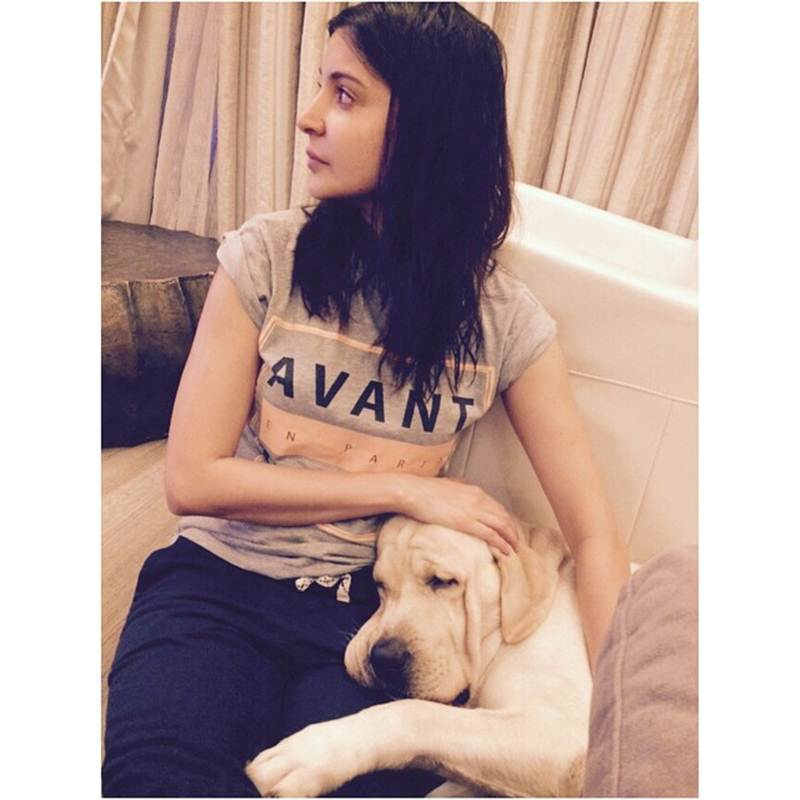 These Celeb Pet Selfies are so cute they will melt your heart right out!- Anushka 1