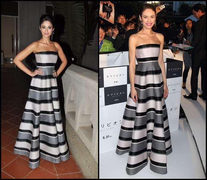 Bollywood Vs Hollywood- Who pulled off these dresses better?-Ileana-Olga