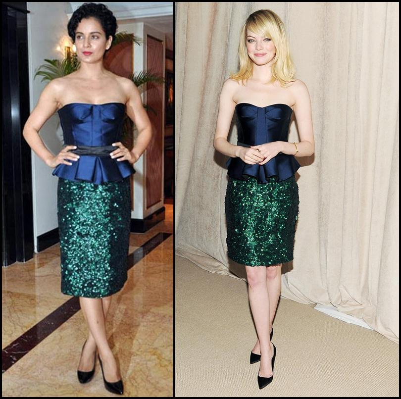 Bollywood Vs Hollywood- Who pulled off these dresses better?- Kangana-Emma